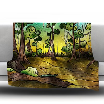 Alligator Swamp Throw Blanket Size: 80 L x 60 W