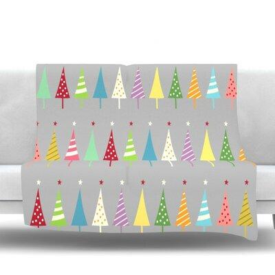 Crazy Trees by Snap Studio Fleece Throw Blanket Size: 40 H x 30 W x 1 D