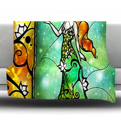 Fairy Tale Frog Prince Throw Blanket Size: 40 L x 30 W