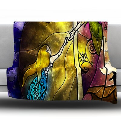Fairy Tale Off To Neverland Throw Blanket Size: 60 L x 50 W