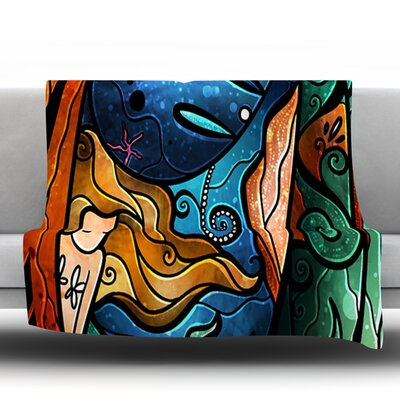 Fathoms Below Mermaid Throw Blanket Size: 80 L x 60 W