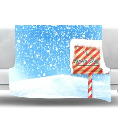 North Pole by Snap Studio Fleece Throw Blanket Size: 90 H x 90 W x 1 D