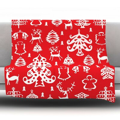 Warm Winter by Miranda Mol Fleece Throw Blanket Size: 60 H x 50 W x 1 D
