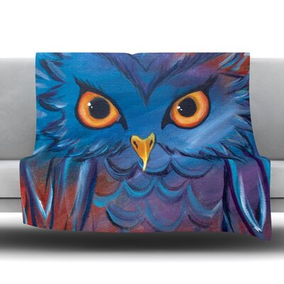 Hoot Throw Blanket Size: 40 L x 30 W