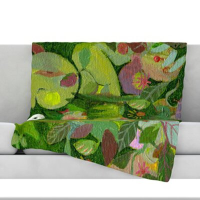 Jungle Fleece Throw Blanket Size: 40 L x 30 W
