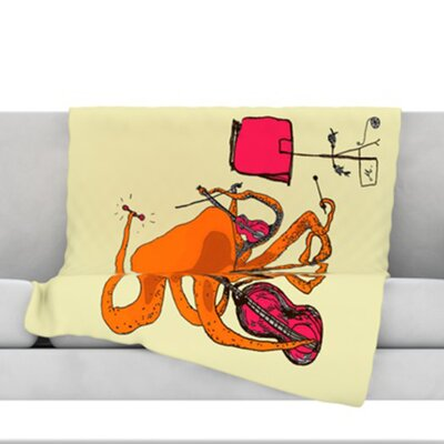Playful Octopus Fleece Throw Blanket Size: 60 L x 50 W