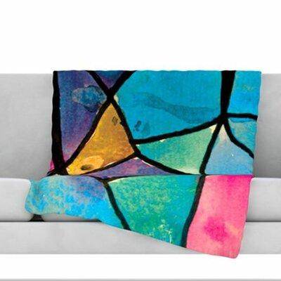Stain Glass 2 Fleece Throw Blanket Size: 60 L x 50 W