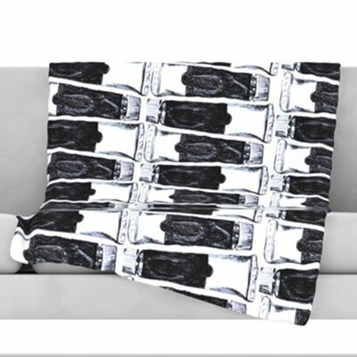 Paint Tubes Fleece Throw Blanket Size: 60 L x 50 W
