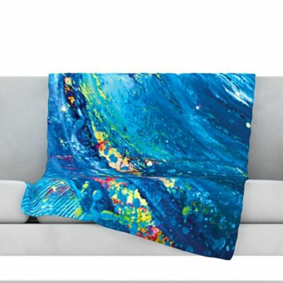Big Wave Fleece Throw Blanket Size: 80 L x 60 W