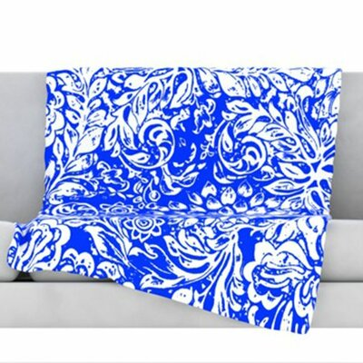 Bloom Blue for You Fleece Throw Blanket Size: 60 L x 50 W
