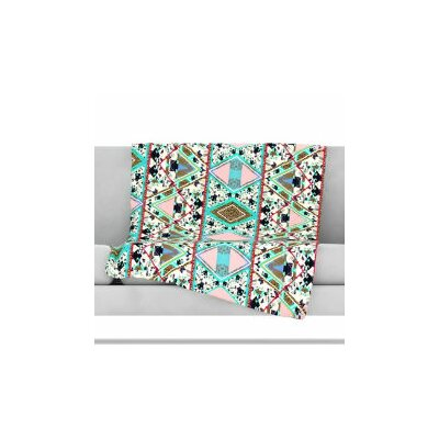 Deco Hippie Fleece Throw Blanket Size: 40 L x 30 W