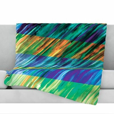 Set Stripes II Fleece Throw Blanket Size: 40 L x 30 W