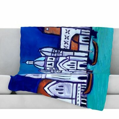 Venice Fleece Throw Blanket Size: 40 L x 30 W
