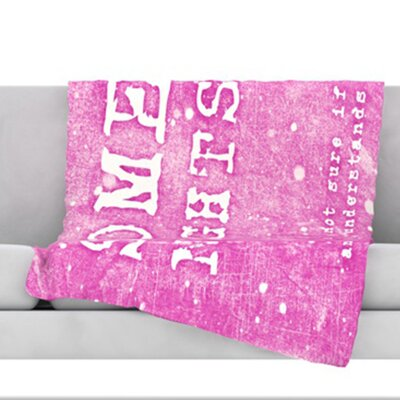 Some Nights Fleece Throw Blanket Size: 40 L x 30 W