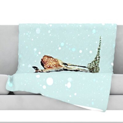 Fawn Fleece Throw Blanket Size: 40 L x 30 W