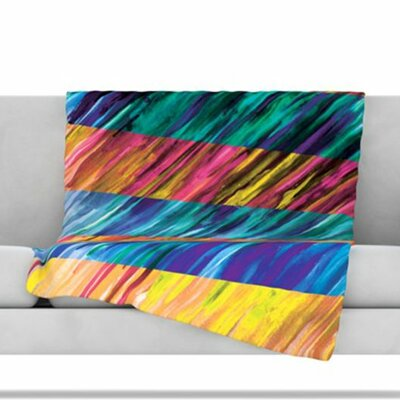 Set Stripes I Fleece Throw Blanket Size: 40 L x 30 W