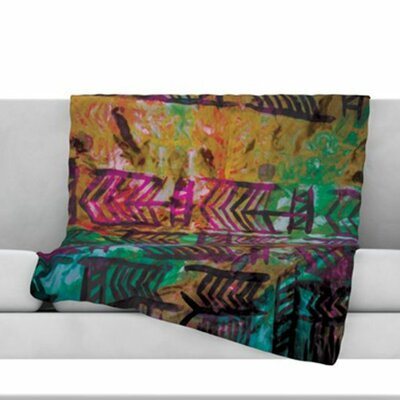 Quiver IV Fleece Throw Blanket Size: 80 L x 60 W
