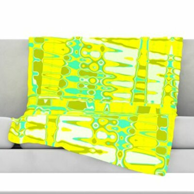 Changing Gears in Sunshine Fleece Throw Blanket Size: 60 L x 50 W