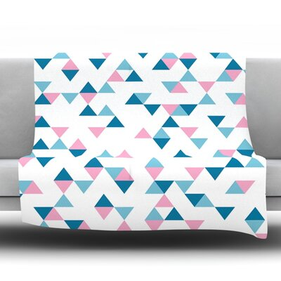 Triangles by Project M Fleece Throw Blanket Size: 40'' H x 30'' W x 1