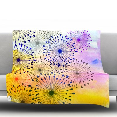 Bursting Blossoms by Sreetama Ray Fleece Throw Blanket SR1024AFB02