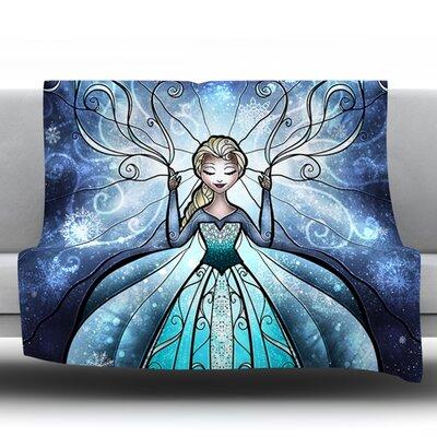 The Snow Queen by Mandie Manzano Fleece Throw Blanket Size: 90 H x 90 W x 1 D