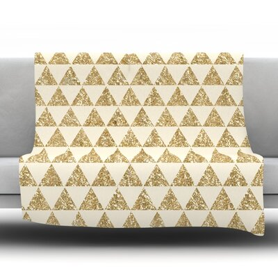 Glitter Triangles by Nika Martinez Fleece Throw Blanket Size: 80 H x 60 W x 1 D