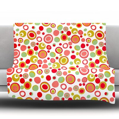 Bubbles by Louise Machado Fleece Throw Blanket Size: 40 H x 30 W x 1 D