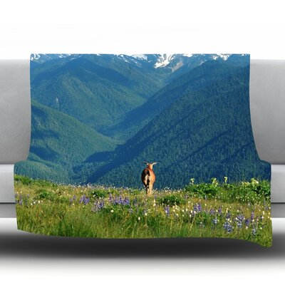 Natures Calling Fleece Throw Blanket Size: 40 L x 30 W