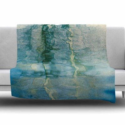 Fluidity Series #2 Fleece Throw Blanket Size: 60 L x 50 W