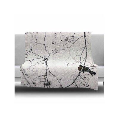Vintage Bird At Dusk Fleece Throw Blanket Size: 40 L x 30 W