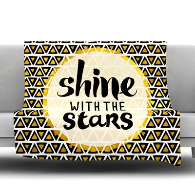 Shine with the Stars Fleece Throw Blanket Size: 80 L x 60 W