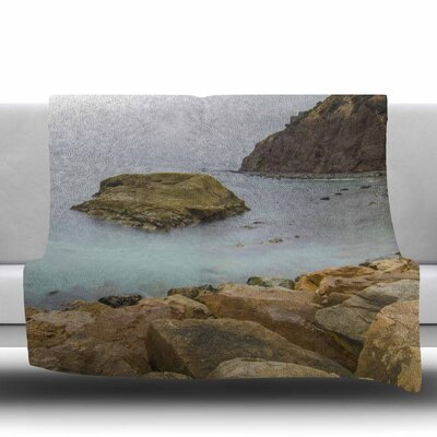 Rock Above Water Fleece Throw Blanket Size: 40 L x 30 W