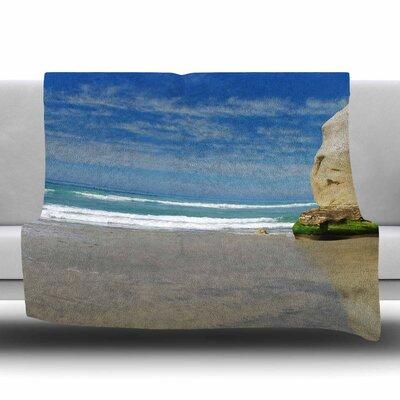 Solana Beach Sands Fleece Throw Blanket Size: 40 L x 30 W