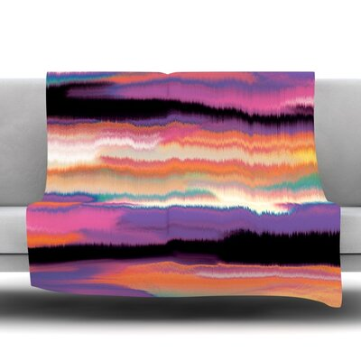 Artika Fleece Throw Blanket Color: Sunset, Size: 60 L x 50 W