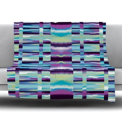Samanna Fleece Throw Blanket Color: Blue, Size: 80 L x 60 W