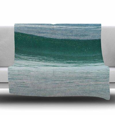 The Lone Wave Fleece Throw Blanket Size: 40 L x 30 W