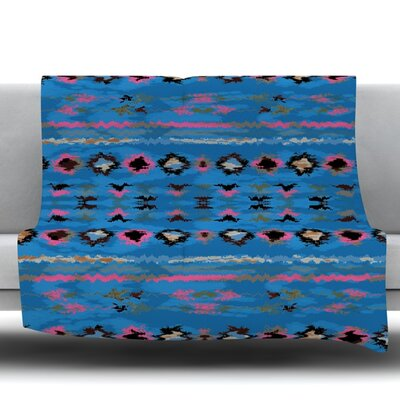 Navano Fleece Throw Blanket Size: 40 L x 30 W, Color: Blue
