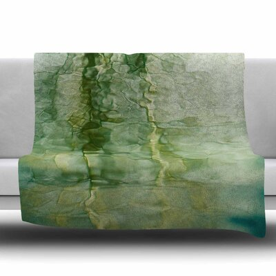 Fluidity Series #3 Fleece Throw�Blanket Size: 40 L x 30 W
