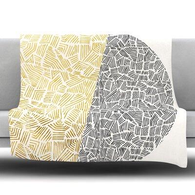 Inca Day and Night Fleece Throw Blanket Size: 40 L x 30 W