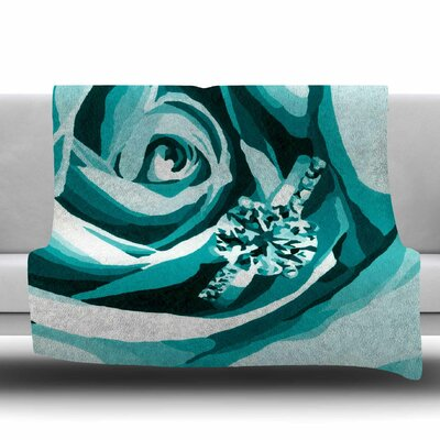 Happy Engagement Fleece Throw Blanket Size: 40 L x 30 W, Color: Tiffany