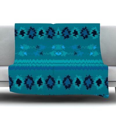 Nava Fleece Throw Blanket Size: 80 L x 60 W, Color: Turquoise