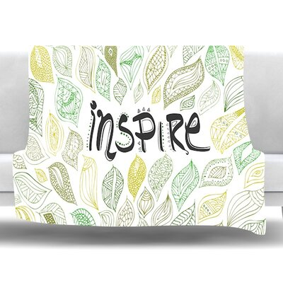 Inspire Nature Fleece Throw Blanket Size: 80 L x 60 W