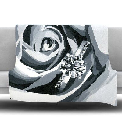 Happy Engagement Fleece Throw Blanket Size: 40 L x 30 W, Color: Grey