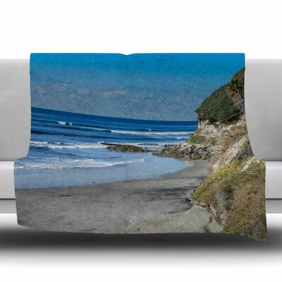 Swamis Beach Coast Fleece Throw Blanket Size: 60 L x 50 W