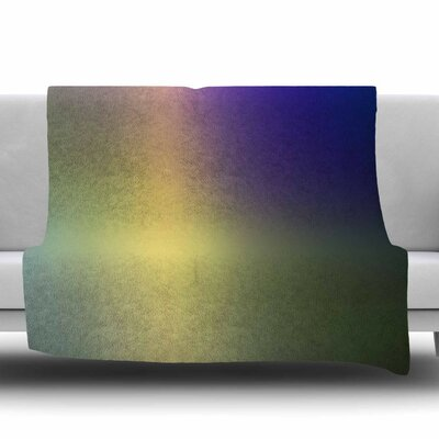 Aura Series #4 Fleece Throw Blanket Size: 40 L x 30 W