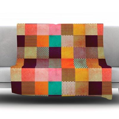 Decorative Pixel by Louise Machado Fleece Throw Blanket Size: 40 H x 30 W x 1 D
