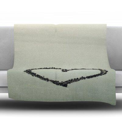 I Love The Beach by Robin Dickinson Fleece Throw Blanket Size: 40 H x 30 W x 1 D