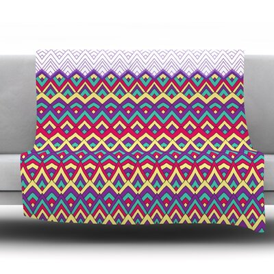 Throw Blanket Size: 60 L x 50 W, Color: Purple