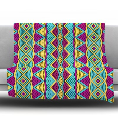 Throw Blanket Size: 80 L x 60 W, Color: Tribal Soul II