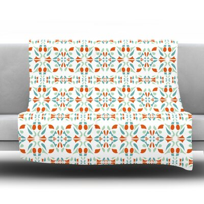 Italian Kitchen Orange Throw Blanket Size: 40 L x 30 W